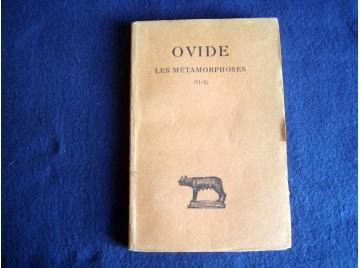 Métamorphoses, tome II (livres  VI-X) - OVIDE -  Georges Lafaye - Collection Guillaume Budé - Éditions les Belles lettres