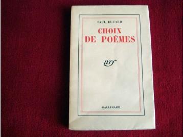 Choix de poemes - Paul Eluard - Édition Originale sur papier courant - Éditions Gallimard - 1941