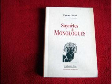 Saynètes et monologues  - Cros, Charles - Éditions de l'Atelier du Gué.