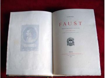 Goethe. Faust, première partie. Préface et traduction de H. Blaze de Bury. Onze eaux-fortes de Lalauze.