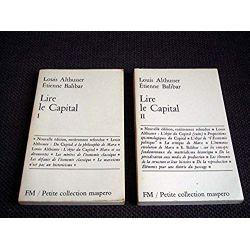 Lire le Capital - tome 1 & 2 - ALTHUSSER Louis, BALIBAR Etienne - Éditions Maspero - 1980