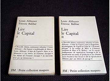 Lire le Capital - tome 1 & 2 - ALTHUSSER Louis, BALIBAR Etienne - Éditions Maspero - 1980
