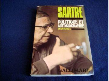 Politique et Autobiographie - Situations X - Jean-Paul SARTRE - Éditions Gallimard - Collection Blanche - 1976