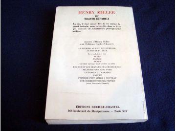 Henry MILLER - Walter SCHMIELE - Éditions Buchet Chastel - 1970