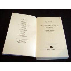 Bourgeois et Soldats - Novembre 1918 - Alfred DOBLIN - Éditions Quai Voltaire - 1990