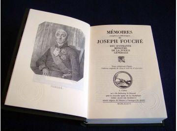 Mémoires Complets et Authentiques de Joseph FOUCHÉ - Duc d'Otrante Ministre de la Police Générale  - Éditions Jean de Bonnot - 1