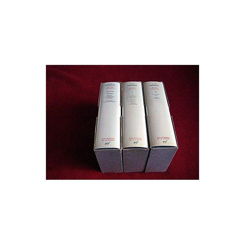 Oeuvres Complètes - Tome 1,2 & 3 - Jean-Jacques ROUSSEAU - Bibliothèque de la Pléiade - Éditions Gallimard