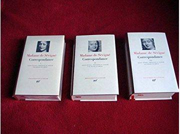 Correspondance - Tome 1,2 & 3 - Madame de SÉVIGNÉ - Bibliothèque de la Pléiade - Éditions Gallimard
