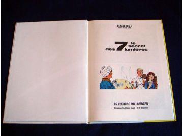 Le Secret des Lumières - Luc ORIENT - Éddy PAAPE-GREG - Éditions du Lombard - 1978