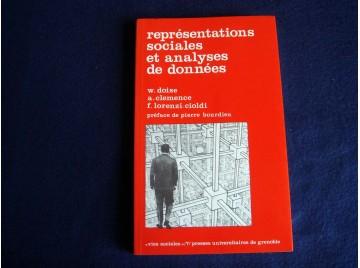 Représentations sociales et analyses de données Doise, Willem, Lorenzi-Ciold Fabio, Clémence Alix , Éditions Octares